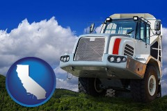 california map icon and a heavy-duty truck