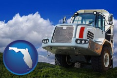 florida map icon and a heavy-duty truck