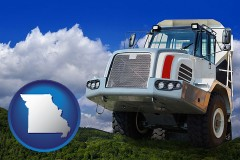 missouri map icon and a heavy-duty truck