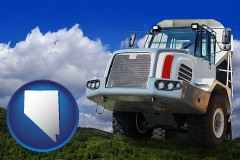 nevada map icon and a heavy-duty truck